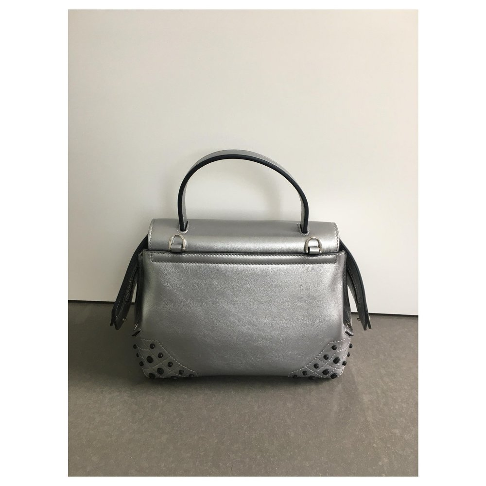 Silver wave bag of Tods