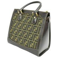 Canvas Fendi Handbag Angle1