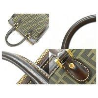 Canvas Fendi Handbag Angle4