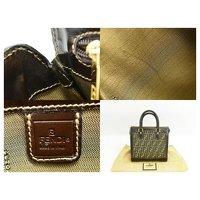 Canvas Fendi Handbag Angle6