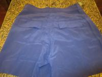 DVF Navy Silk Shorts Angle5