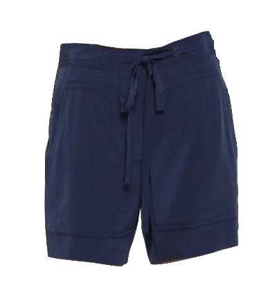 DVF Navy Silk Shorts