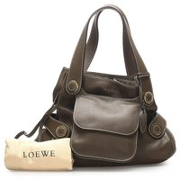 Anagram Leather Tote Bag by Loewe Angle10