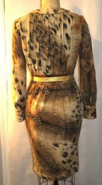 Sexy low cut Cavalli Dress Angle3