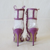 Jimmy Choo Sandals Suede in Violet Angle2