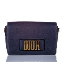 Dior Leather Shoulder bag With Magnetic Closure Angle1