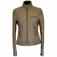 Moschino Cheap And Chic Leather Jacket With Studs