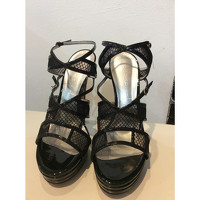 Casadei Patent leather Strappy Sandals Angle3