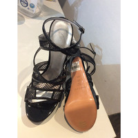 Casadei Patent leather Strappy Sandals Angle5