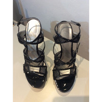 Casadei Patent leather Strappy Sandals Angle6