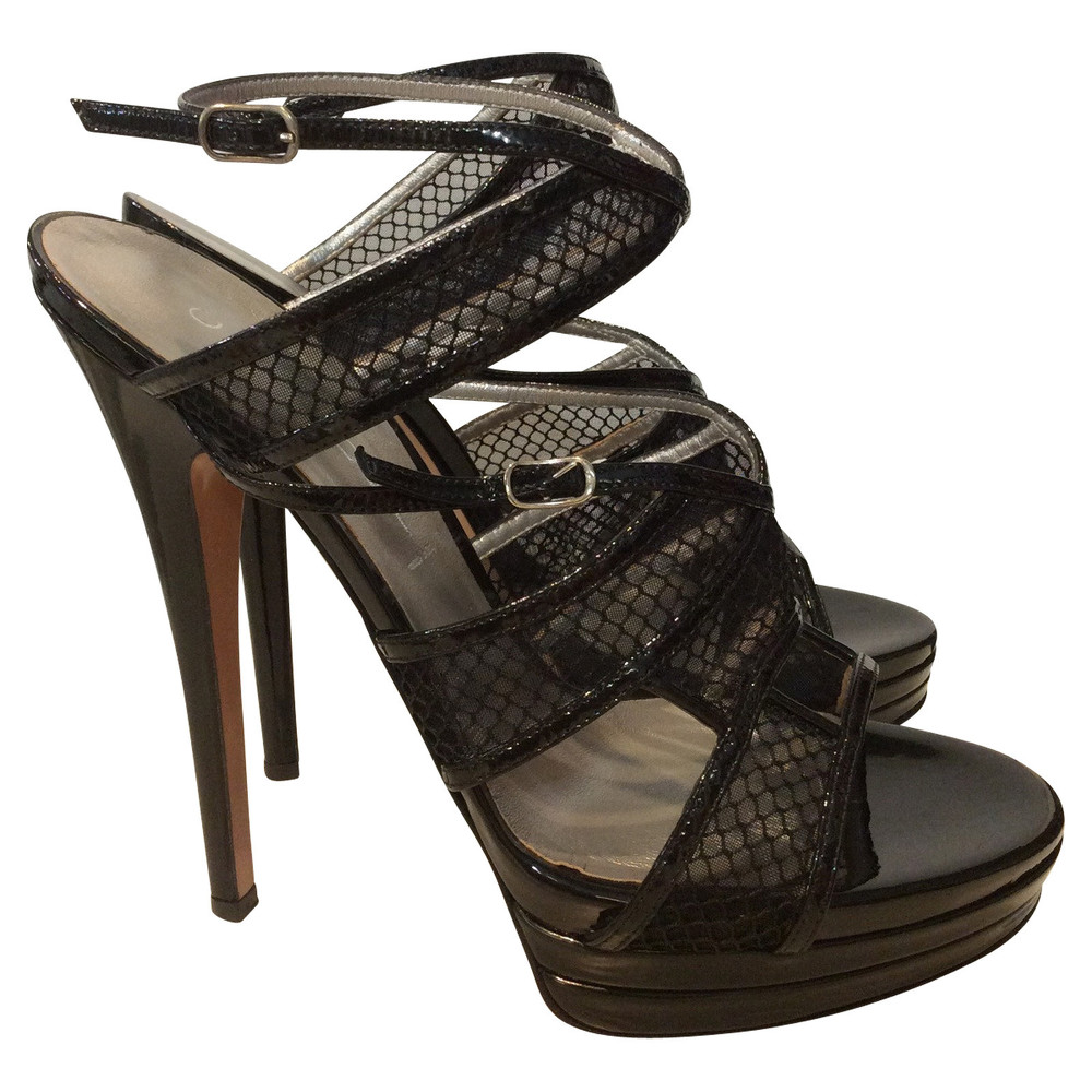 Casadei Patent leather Strappy Sandals
