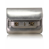 Proenza Schouler Leather Shoulder Bag In Silver