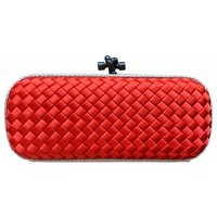 Bottega Veneta, new knot red clutch.