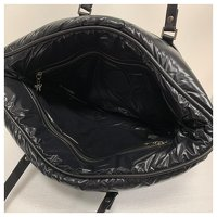 Moncler, Black padded and quilted nylon travel bag Angle5