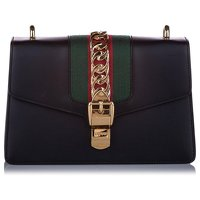 Small Sylvie Leather Shoulder Bag by Gucci