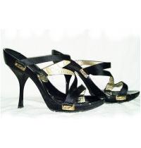 Giuseppe Zanotti Vicini Black Lacquer  Heels