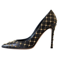 Gianvito Rossi Studded Leather Pumps Angle1