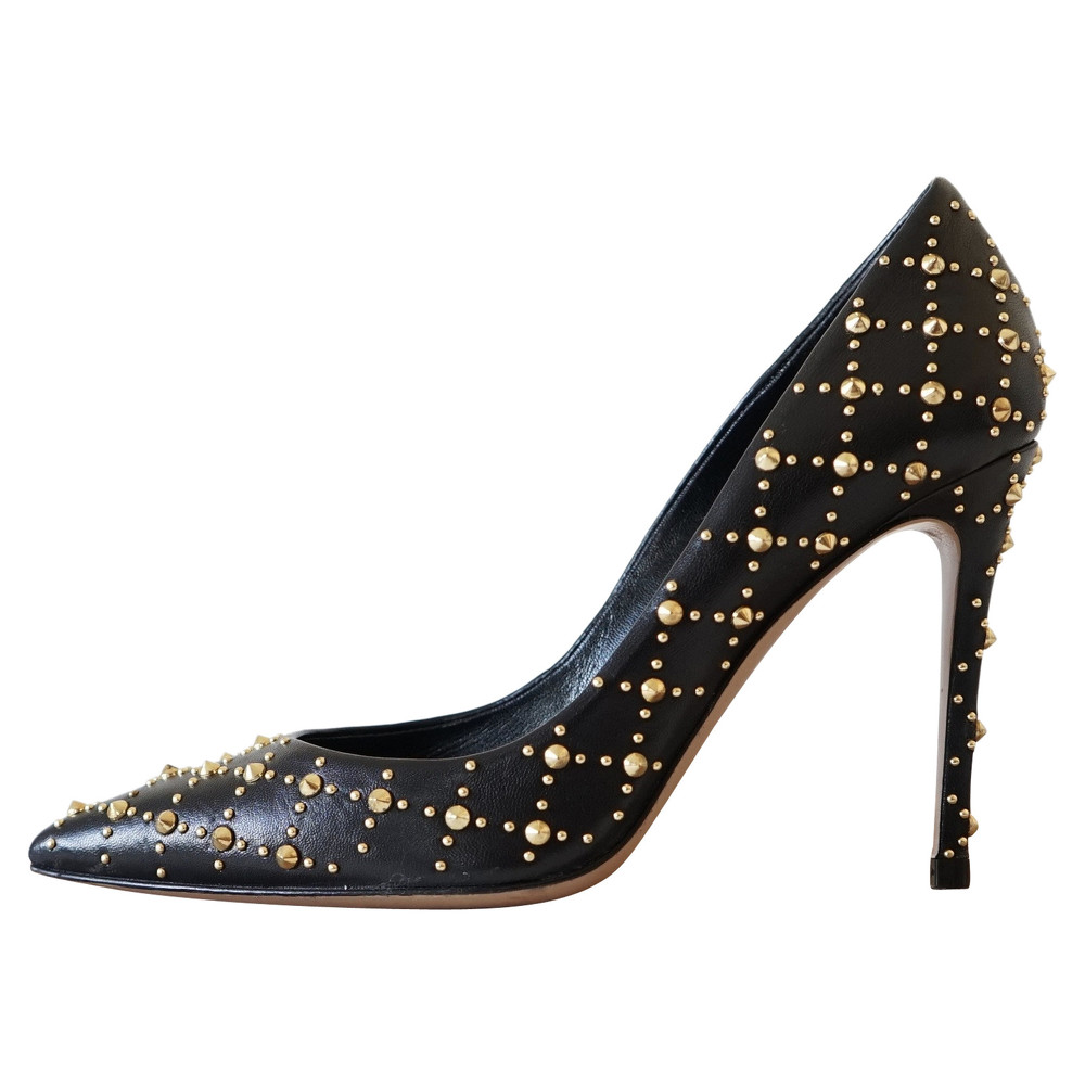 Gianvito Rossi Studded Leather Pumps
