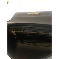 Red Valentino Leather Shoulder Bag With Gold Pads Angle4