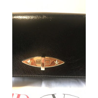 Red Valentino Leather Shoulder Bag With Gold Pads Angle2