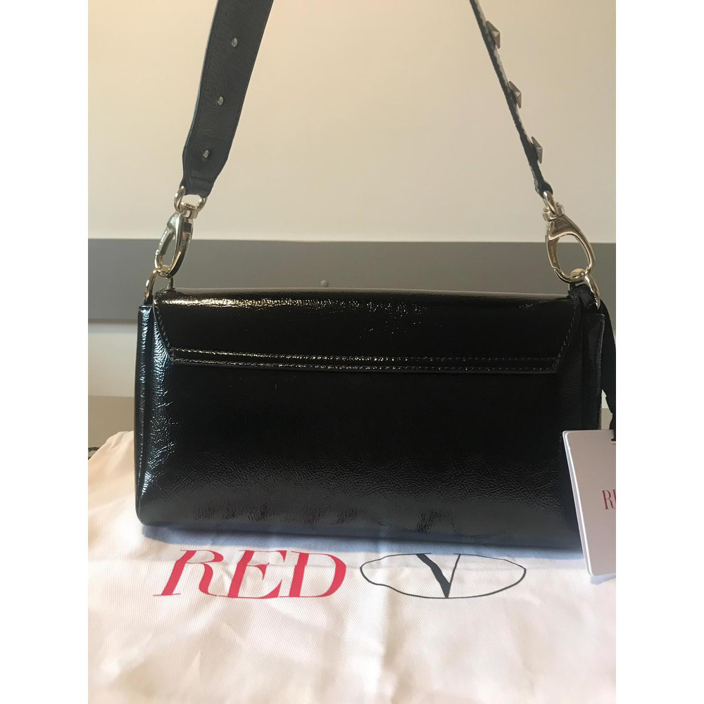 Red Valentino Leather Shoulder Bag With Gold Pads