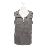 Marni Top With Foldable Collar In Taupe Color