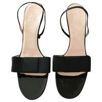 Céline, Black Sandals Angle1