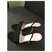 Céline, Black Sandals Angle2