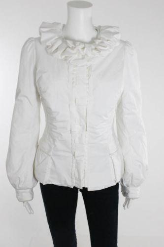 Elie Tahari Ruffle neckline jacket