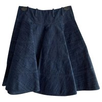 Couture denim skirt by Alaia.