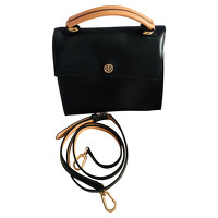 Tory Burch Leather Handbag With Button Closure