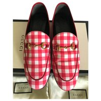 Red Jordaan loafers by Gucci