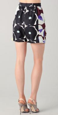 "DVF ""Donovan"" Silk shorts Brown"