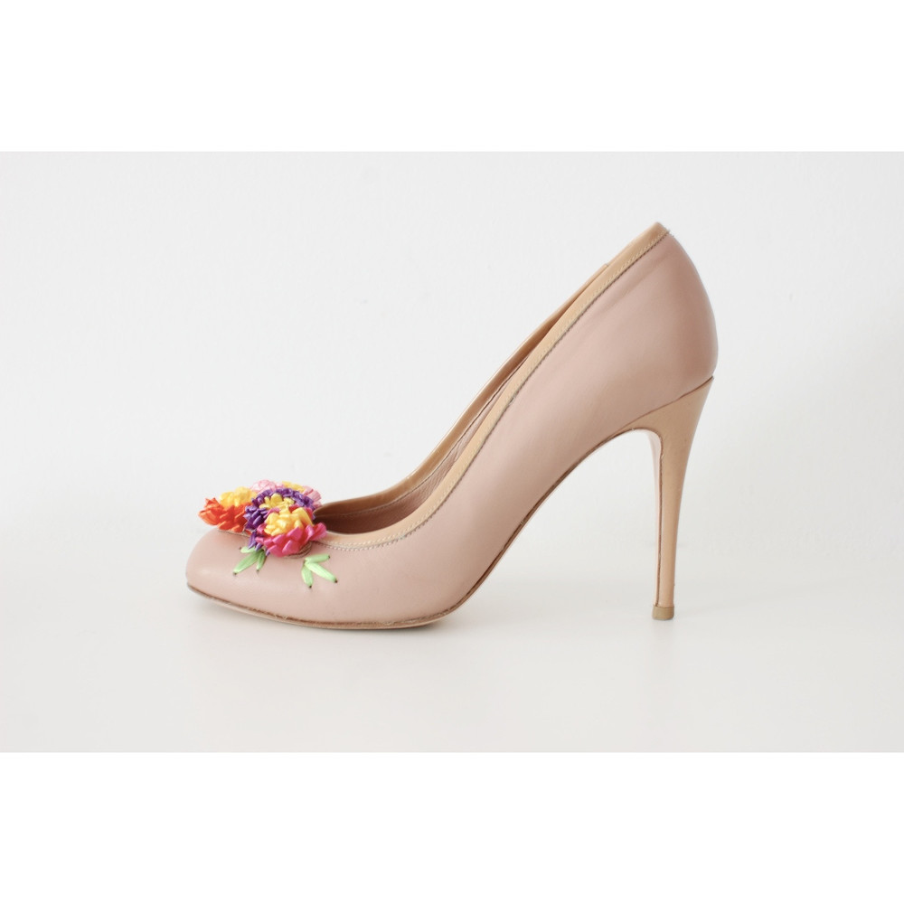 Red Valentino Pumps With Floral Applications
