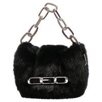Alexander Wang Fur Handbag With Front Flap