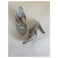 Versace Leather Sandals Angle2