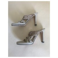 Versace Leather Sandals Angle5