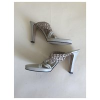 Versace Leather Sandals Angle6