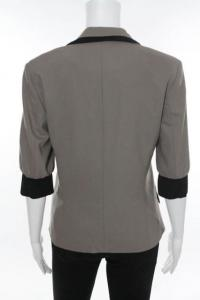 Brown jacket with black trim Angle4
