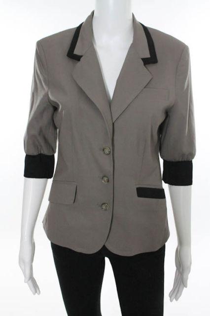 Brown jacket with black trim