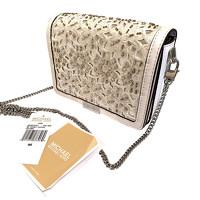 Michael Kors Shoulder Bag With Lace Effect
