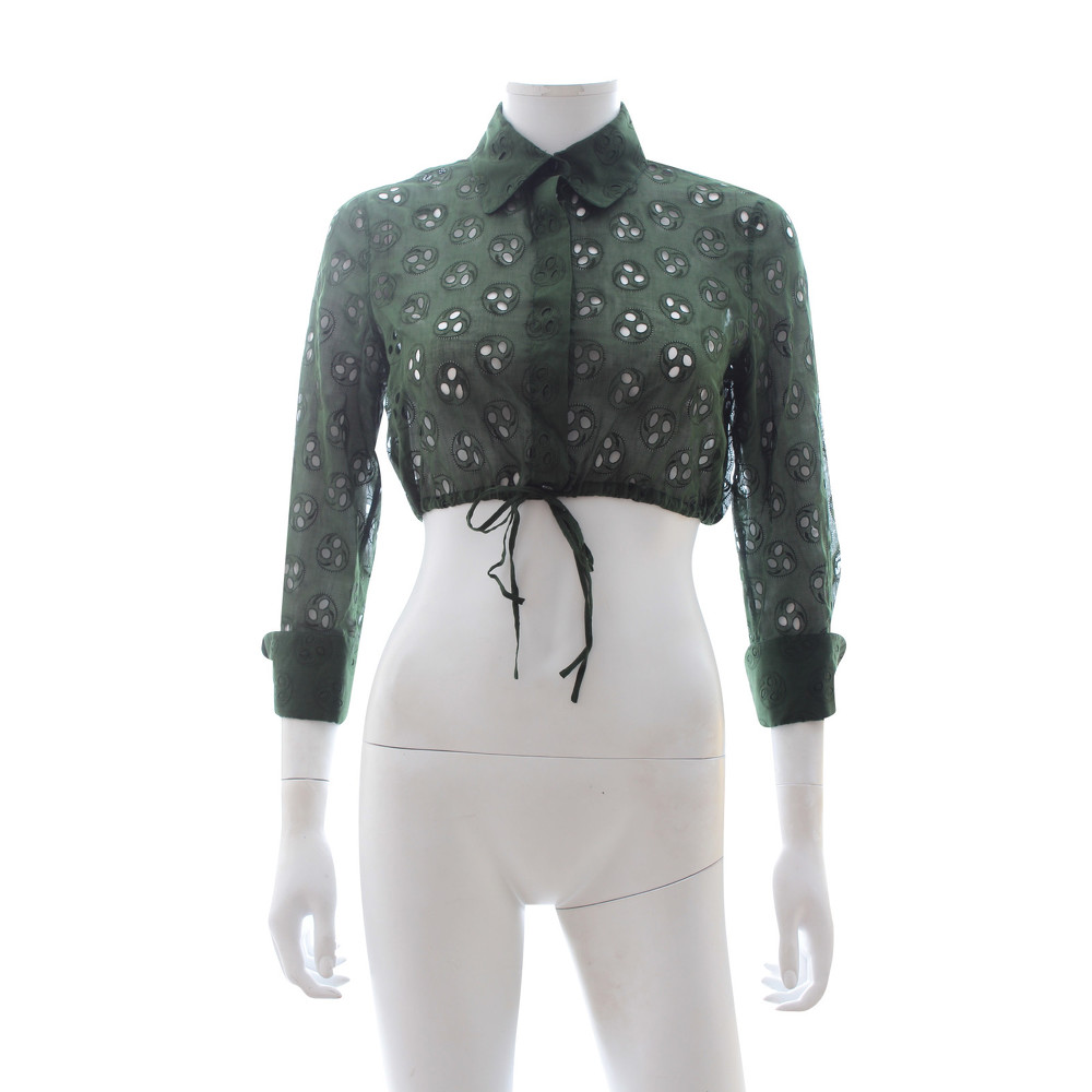 Alaia Top With Concealed Button Fastenings
