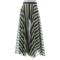 Alaia Skirt Patterned With Cool Tonal Green Stripe Angle1