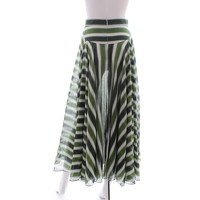 Alaia Skirt Patterned With Cool Tonal Green Stripe Angle2