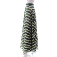 Alaia Skirt Patterned With Cool Tonal Green Stripe Angle3