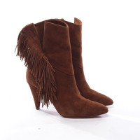 Aquazzura Ankle Boots With Decorative Fringe