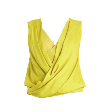 Yellow New Issie Two Top Silk