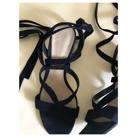 Black Sandals by Gianvito Rossi. Angle3