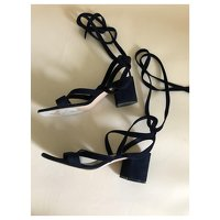 Black Sandals by Gianvito Rossi. Angle5