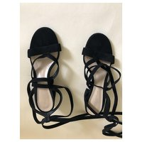 Black Sandals by Gianvito Rossi. Angle7